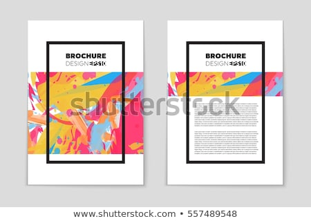 abstract waterclor trifold business brochure design template Stock photo © SArts