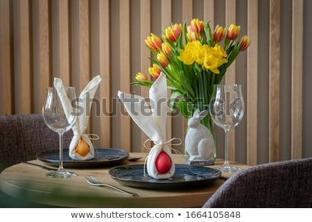 two white easter bunnies stock photo © derocz
