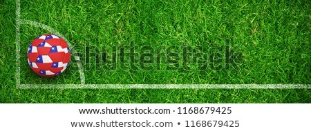 Football in chile colours against closed up view of grass Stock photo © wavebreak_media