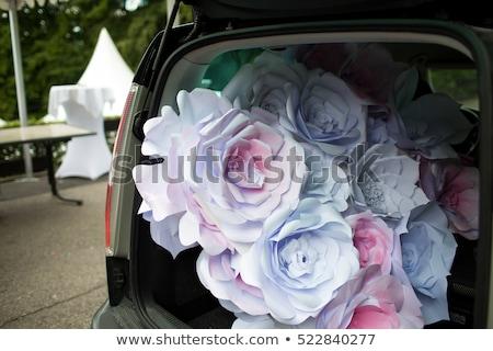 Ramo de la boda mentiras hermosa azul coche boda Foto stock © ruslanshramko
