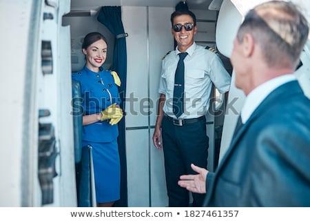 Registratie vlucht geslaagd jonge business professionele Stockfoto © pressmaster