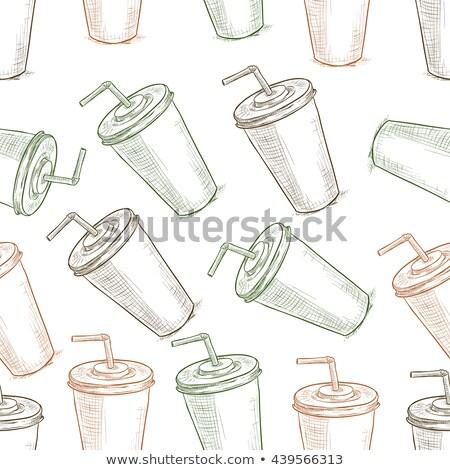 Trzy cola kubek wektora tekstury Zdjęcia stock © netkov1