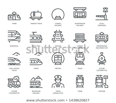 vasútállomás · ikon · gyűjtemény · webes · ikonok · felhasználó · interfész · terv - stock fotó © bspsupanut