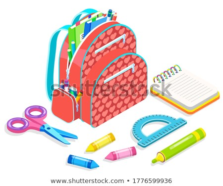 iroda · notebook · számológép · vektor · ceruza · radír - stock fotó © robuart