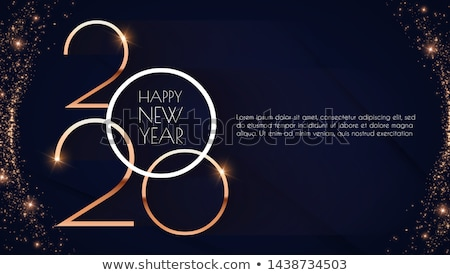 happy · new · year · illustration · texte · 3d · brillant · bleu - photo stock © sgursozlu