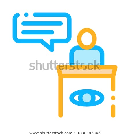 Male Witness Law And Judgement Icon Vector Illustration Stock photo © pikepicture