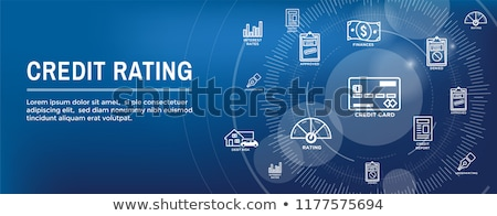 Credit rating concept banner header. Stock photo © RAStudio