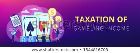 игорный доход баннер покер игрок Сток-фото © RAStudio