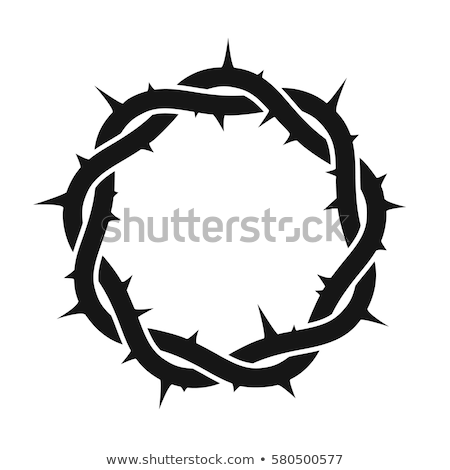 Foto stock: Branco · silhueta · coroa · páscoa · preto · religião