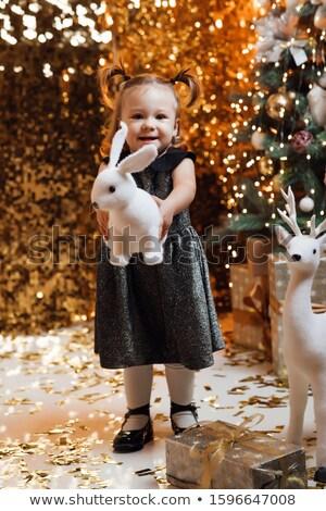 Noël décoration enfant ans vieux arbre Photo stock © ElenaBatkova