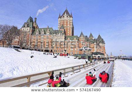 зима Квебек город Канада здании пейзаж Сток-фото © Lopolo