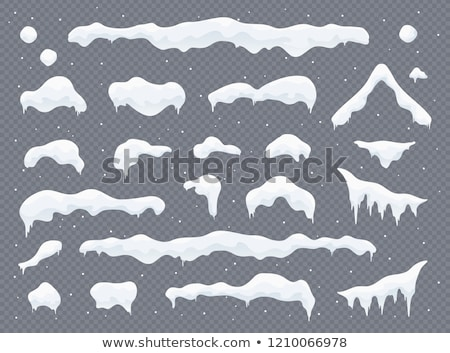 Snow caps, snowballs and snowdrifts set. Snow cap vector collection. Winter decoration element. Snow Stock photo © olehsvetiukha