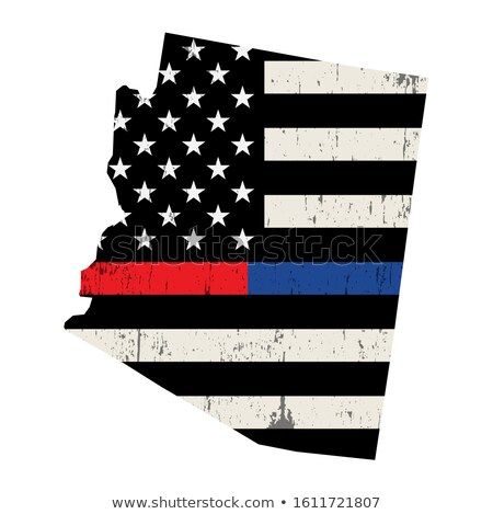 Arizona brandweerman ondersteuning vlag illustratie Amerikaanse vlag Stockfoto © enterlinedesign
