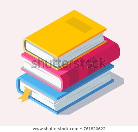 Educação livro enciclopédia biblioteca forma livro aberto Foto stock © Olena
