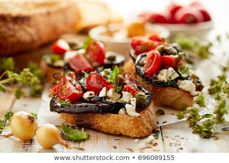 Bakłażan grillowany aromatyczny pomidory żywności Zdjęcia stock © Dar1930