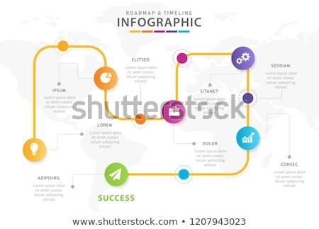 Timeline infografica design vettore opzioni lampadine Foto d'archivio © ukasz_hampel