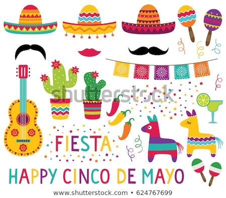 Cinco De Mayo clipart set Stock photo © ayelet_keshet