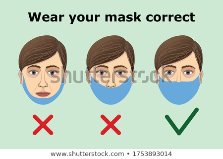 Verkeerd dragen vrouw gezicht masker Stockfoto © Giulio_Fornasar