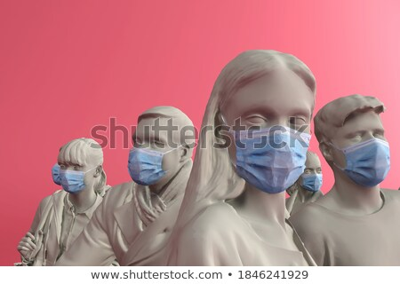 3d coronavirus infection spread background with text space stock photo © sarts