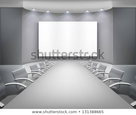 Interior Of Modern Boardroom For Lecture Vector Stock photo © pikepicture
