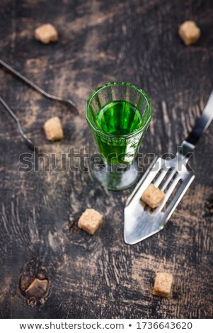 üveg sétapálca cukor ital kockacukor zöld Stock fotó © furmanphoto