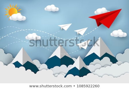 Paper airplane flying upon the mountain Stock photo © Ansonstock