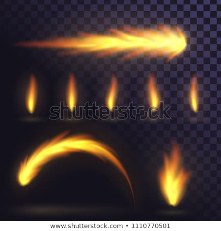 Bright fire flame in arc shape on transparent Stock photo © evgeny89