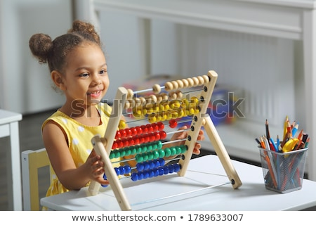 Mathematics educational game for children. Learning counting Stock photo © natali_brill