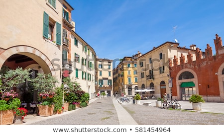 Traditional old building from Verona, Italy Stock photo © boggy