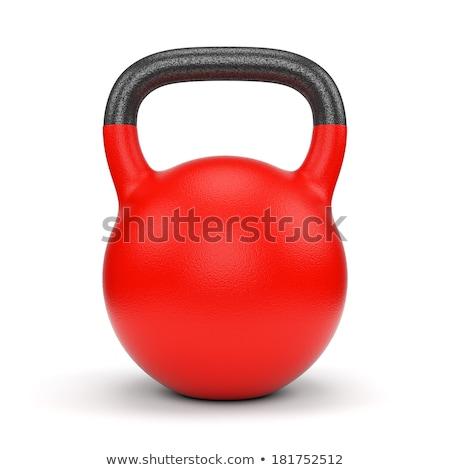 Gym equipment weight kettle bell isolated Stock photo © dmitry_rukhlenko