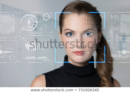 Facial recognition biometric technology Stock photo © ra2studio