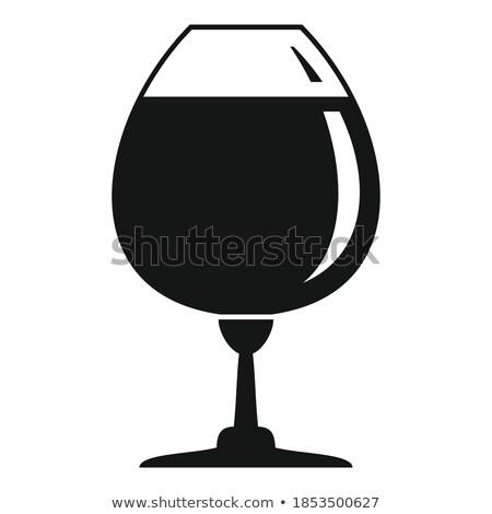 Konyak beyaz el bar içmek mürekkep Stok fotoğraf © Arkadivna