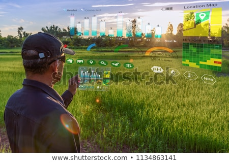 Smart tecnologia digitale agricoltura app farm Foto d'archivio © AndreyPopov