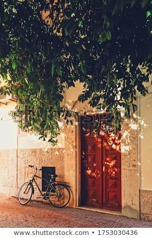 Bouwkundig details oude straten eiland Griekenland Stockfoto © Anneleven