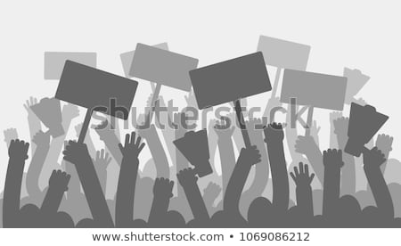 Openbare protest abstract vector illustraties ingesteld Stockfoto © RAStudio