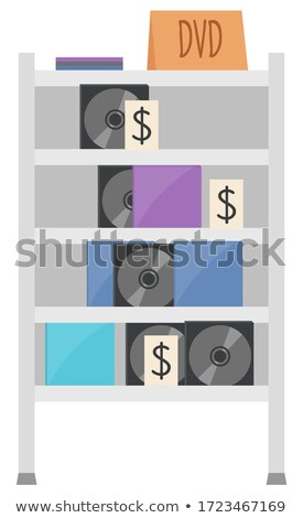 Cd Equipment, Dvd Disk, Sound Garage Sale Vector Stock photo © robuart