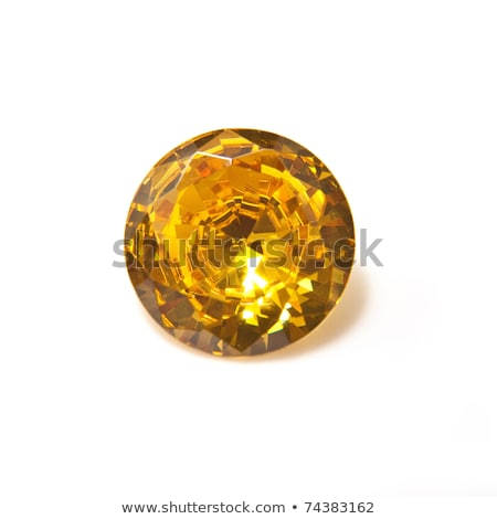 Yellow diamond isolated on white Stock photo © oneo