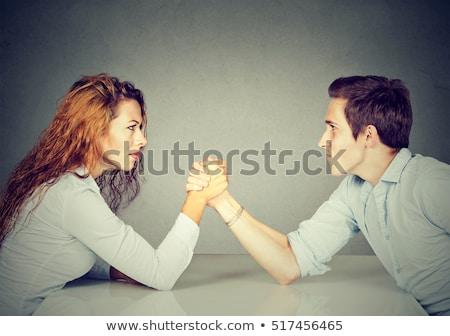 sexe · confrontation · groupe · femmes · hommes · isolé - photo stock © iofoto