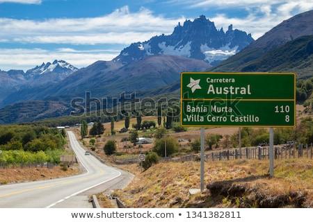 Ameryka Łacińska znak autostrady zielone Chmura ulicy podpisania Zdjęcia stock © kbuntu
