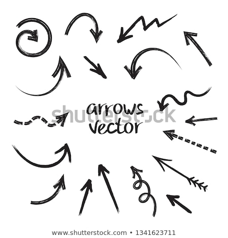 set of white doodle arrows stock photo © orson