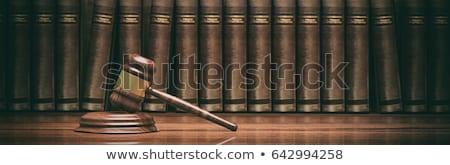 droit · justice · icônes · échelles · juge · marteau - photo stock © winner