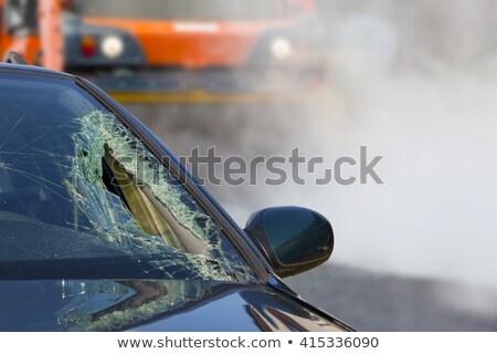 автомобилей · фотография · стекла · скорости · сломанной · колесо - Сток-фото © deyangeorgiev