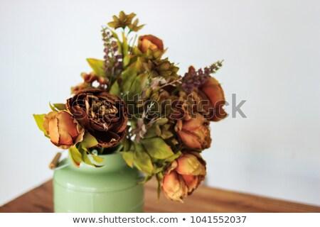 Drogen rozen vaas beige triest najaar Stockfoto © premiere