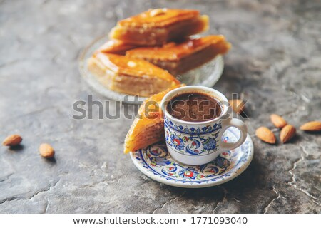 Ramadan dessert baklava and turkish coffee Stock photo © shamtor