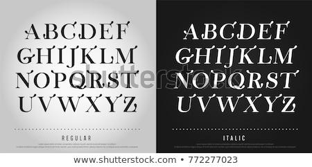 vieux · lettre · élégante · écriture · parchemin · papier - photo stock © fenton