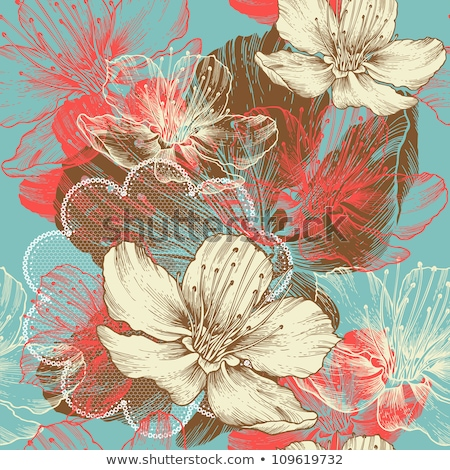 Fall abstract floral background Stock photo © orson