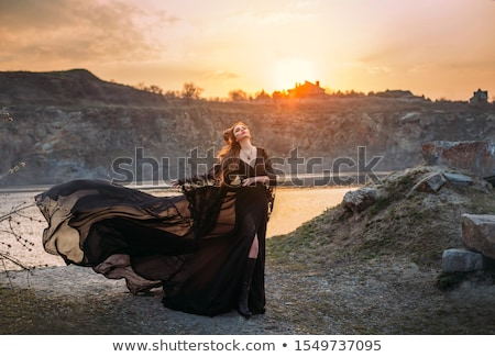 beauty woman in fairy scenery stock photo © konradbak