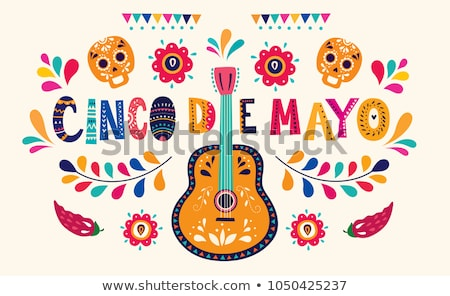 mexican with guitar stock photo © dayzeren