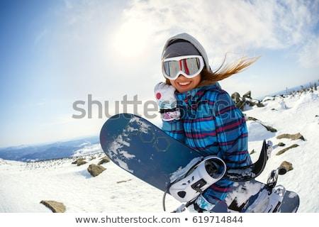 felice · sci · ragazza · femminile · sciatore · indossare - foto d'archivio © lovleah