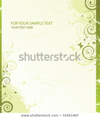 floral background with green branch and  ladybird Stock photo © Artspace